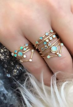 Opal stacking rings