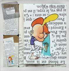 Verseau... Marque page. Recyclage par la Gorgone. : Marque-pages par la-gorgone