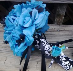 Hey, I found this really awesome Etsy listing at http://www.etsy.com/listing/105199531/silk-bridal-bouquet-turquoise-blue-roses