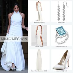 Meghan Markle's wedding reception look for less Princess Diana Family, Princess Meghan, Prince Harry And Meghan, Meghan Markle Outfits, Meghan Markle Style, Harry Wedding, Princess Wedding, Amazon Us, Chic Outfits