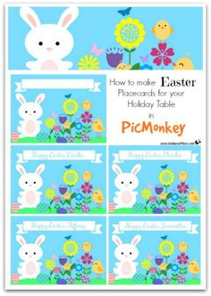 How to make Easter Placecards for Your Holiday Table in PicMonkey