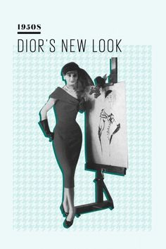 Dior's New Look basically defined the aesthetics of the age, with nipped waists, midi-length skirts, and form-fitted bodices. Hollywood actresses like Rita Hayworth, Elizabeth Taylor, and Grace Kelly helped make LBDs a glamorous evening look.