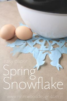 Easy Free Easter Spring Craft Printable Template Bunny Snowflake. Want more great ideas? Check out my blog at www.rsherwooddesign.com