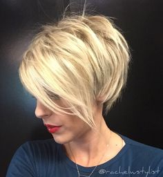 "194 Likes, 13 Comments - Rachel Williams (@rachelwstylist) on Instagram: """"Blonde Pixie with Edge""…"""