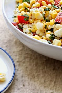 Corn Salad With Tomatoes, Feta and Mint Recipe