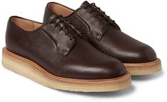 Mark McNairy Crepe Sole Leather Derby Shoes