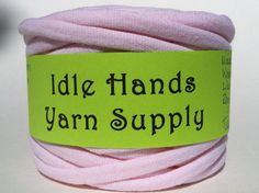Tarn Recycled T Shirt Yarn Pink 34 Yards 4 by IdleHandsYarnSupply, $6.10