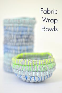 Use old fabric and embroidery thread to make these fun bowls and containers! www.ciburbanity.com