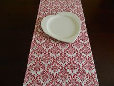 Valentine's Table Runner. Red and White Table by BabyGigglesOnline