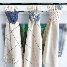 Easy Kitchen Towel Topper Crochet Pattern Crochet Dish Towel | Etsy Crochet Dish Towels, Crochet Towel Topper, Crochet Kitchen Towels, Modern Crochet, Crochet Home, Easy Crochet, Free Crochet, Crochet Lovey Free Pattern, Crochet Chart