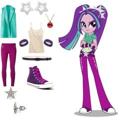 """I just created """"Aria Blaze"""" by ana-94-aries on Polyvore"""