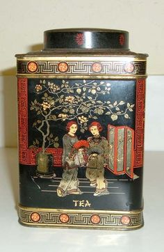 Vintage English tea caddy.  We had one almost identical. w