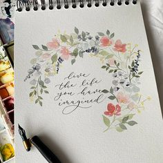 Hope everyone had a restful Easter 😊 May this week be everything you want it to be 💕 . Watercolor Cards, Watercolour Painting, Watercolor Flowers, Watercolours, Doodle Art Letters, Doodle Art Journals, Doodle Art For Beginners, Corona Floral, Graffiti
