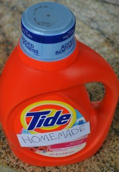 Homemade Liquid Laundry Detergent with the Power of Tide!