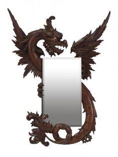 Venetian Dragon-Carved Fantasy Mirror