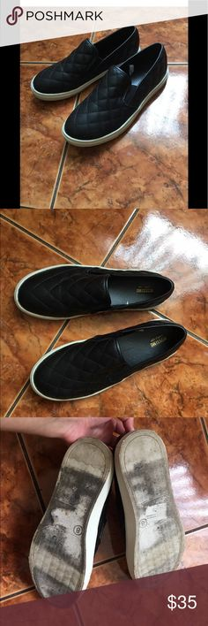 [Mossimo Supply Co] Black Quilted Loafers Size 8 Has some signs of wear, Size 8 Mossimo Supply Co Shoes Flats & Loafers