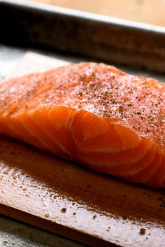 """How to cook Salmon"". Salmon is readily available, extremely versatile and simply delicious. Here we cover salmon basics from weeknight fillets to weekend entertaining: the cuts and types to buy, equipment you'll need, essential methods for preparing it and sauces for dressing it up."