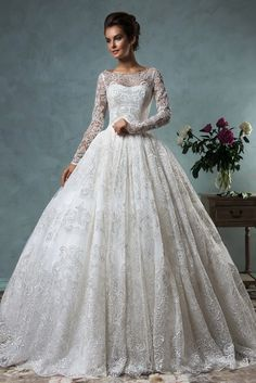 Cheap dress sweet, Buy Quality dress code dresses directly from China dresses that are slimming Suppliers: Exquisite Embroidery Long Sleeve Lace Wedding Dress 2017 Boat Neck Bridal Dresses with Long Train Wedding Gowns Vestido de Noiva Muslim Wedding Dresses, 2016 Wedding Dresses, Bridal Dresses, Gown Wedding, Dresses 2016, Dresses Online, Wedding Favors, Ivory Wedding, Wedding Bells