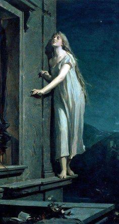 Maximilian Pirner, The sleepwalker, - fotografie Illustrations, Renaissance Kunst, Classical Art, Classical Mythology, Fine Art, Old Art, Art Plastique, Aesthetic Art, Painting Art