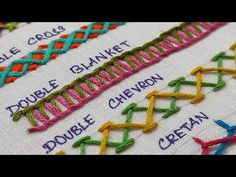 5 Basic Hand Embroidery Stitches Suitable for Border Designs/ Easy Hand Embroidery Border Designs - YouTube Basic Hand Embroidery Stitches, Border Embroidery, Sewing Stitches, Border Design, Chevron, Easy, Youtube, Designers, Hand Embroidery Stitches