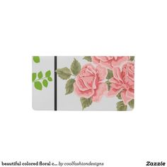 beautiful colored floral cover checkbook cover