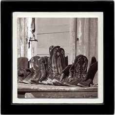 Thirstystone Ambiance Drink Coasters Set, Resting, Boots, Black, Multicolor