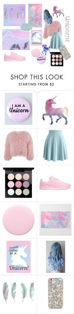 """""""I ❤ Unicorns"""" by chelseaawebbchelseaa ❤ liked on Polyvore featuring Charlotte Simone, Chicwish, MAC Cosmetics, adidas Originals and Nails Inc."""