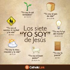 """Infografía: Los siete """"YO SOY"""" de Jesús tomados del Evangelio según San Juan"""