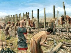 Building the Legionary camp of Vindonissa by Joe Rohrer