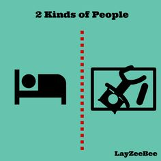 Cute posters on two kinds of people in this world  LayZeeBee