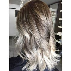 60 Balayage Hair Color Ideas with Blonde, Brown, Caramel and Red... ❤ liked on Polyvore featuring beauty products, haircare and hair color