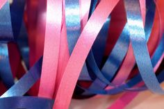 Pink and blue ribbons
