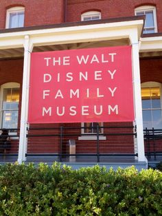 The Walt Disney Family Museum...obviously, I will be doing this if I ever make it to San Francisco!
