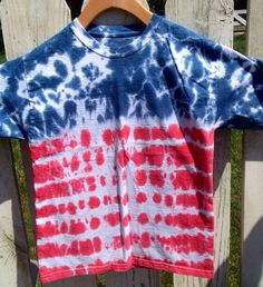 6 Month  XL Adult Patriotic 4th of July Red by FarmhouseArtStudio, $16.00