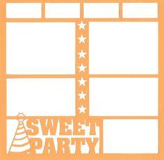 Sweet Party 12 x 12 Overlay Laser Die Cut