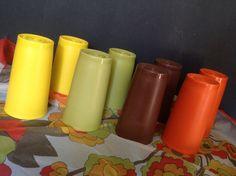 set of eight vintage Tupperware tumbler cups 2 each by BonBibelots, $18.00