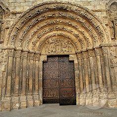 Romanesque Architecture   Romanesque architecture. Estella. Lizarra. Navarra. Spain.