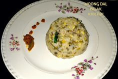 Moong Dal Palak Khichdi - the ultimate One pot meal India Food, One Pot Meals, Fried Rice, Suit, Cooking, Ethnic Recipes, Kitchen, Indian Dishes, One Pot Wonders