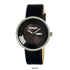 Crayo Women's Button Watch with Genuine Leather Strap at 84% Savings off Retail!