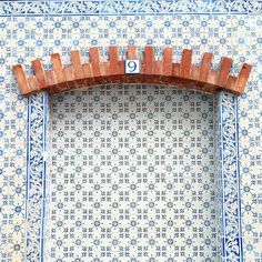 More great tiling in #Lisbon #tiledesign #patterndesign #tilepattern by marcella_f