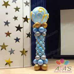 Resultado de imagen para balloon decoration columns                                                                                                                                                                                 Más