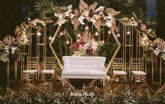 Ghea & Iqbal Wedding Decoration by Nona Manis Creative Planner wedding stage Wedding Backdrop Design, Desi Wedding Decor, Wedding Stage Design, Luxury Wedding Decor, Wedding Stage Decorations, Engagement Decorations, Backdrop Decorations, Wedding Art, Garden Wedding