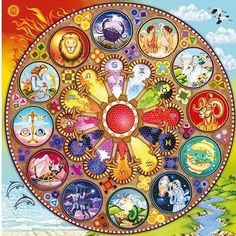 Astrology - beautiful zodiac wheel