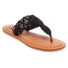 Women's Mad Love Lee Thong Sandals - Black 11