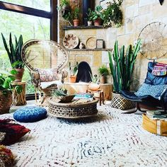 Rug, chair on left (but you aren't wanting rattan and those aren't that comfy), chair on right looks good, love the coffee table