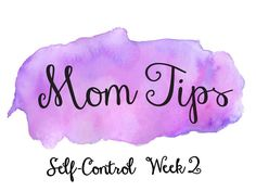 """Welcome to Week Two of our next Bible study: Purity and Self-Control! This week's Mom Tips will help you to exercise more self-discipline in your life! Here's our favorite tip this week, it is challenging, but You Can Do It! """"Turn off the television this week. Pick up a book you have been meaning to read or write a letter to a friend."""" #TakeABreakFromTV #YouCanDoIt #HelpClubForMoms"""