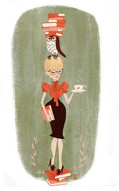 'Librarian Bookended' by Brigette Barrager
