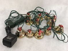 Vintage Holiday Magic Bells Christmas Music Decoration Gift Collectible