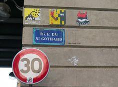 Space Invader_Artiste : #Invader_Paris (France)_Rue du Saint Gothard (14è Arrt)_2016-02-06 © Hélène Ricaud (LNR)