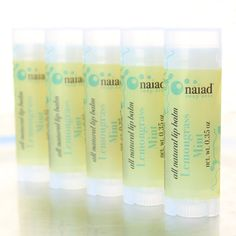 Made with lemongrass and mint to stimulate, cheer, and uplift, this lip balm also contains cocoa and shea, so so you know it's yummy for your pucker! By Erin Pikor at Naiad Soap Arts, San Diego, CA. (IBN Member since April 2010)